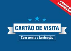 Promoção de cartão de visita com verniz e laminação